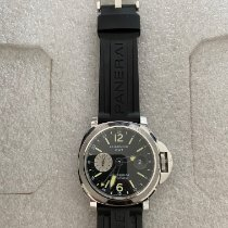 Panerai Luminor GMT Automatic pre-owned 44mm Black Date GMT Leather