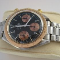 Omega Speedmaster Reduced VINTAGE OMEGA SPEEDMASTER REDUCED 18K GOLD STEEL 175.00.33 1988 gebraucht