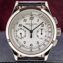 Patek Philippe Chronograph White gold 39mm Silver Arabic numerals United States of America, Massachusetts, Boston