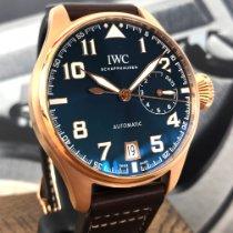 IWC Große Fliegeruhr gebraucht 46mm Blau Datum Leder