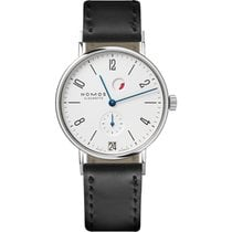 NOMOS Tangente Gangreserve Steel 35mm White United States of America, New Jersey, Englewood