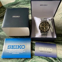 Seiko Steel Automatic Black No numerals 42mm new 5 Sports