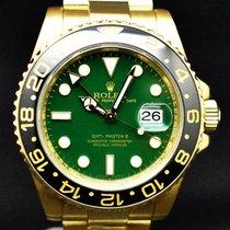 Rolex Oro amarillo Automático Verde Sin cifras 40mm usados GMT-Master II