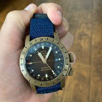 Glycine Bronze Automatic Brown 44mm pre-owned Airman