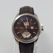 TAG Heuer Grand Carrera Steel 42.5mm Brown No numerals United States of America, New Mexico, Albuquerque