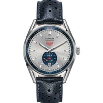 TAG Heuer Carrera Calibre 6 Silver 39mm Silver Arabic numerals United States of America, New York, New York