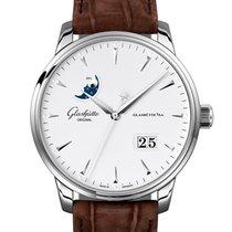 Glashütte Original Senator Excellence Acier 42mm Blanc Sans chiffres