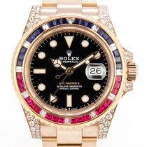 Rolex GMT-Master II tweedehands 40mm Zwart Datum Roségoud