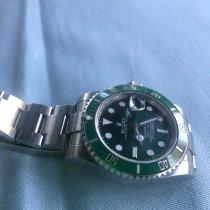 Rolex Céramique Remontage automatique Vert Sans chiffres 40mm occasion Submariner Date