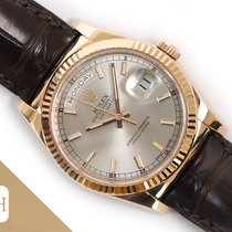 Rolex Day-Date 36 Or rose 36mm Argent Sans chiffres