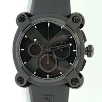 Romain Jerome Moon-DNA Stal 46mm Czarny Bez cyfr