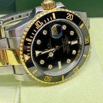 Rolex Submariner Date Zlato/Zeljezo 40mm Crn Bez brojeva