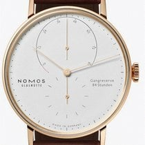 NOMOS Lambda Rose gold 39mm White