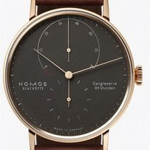 NOMOS Lambda Rose gold 39mm Black