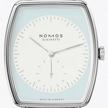 NOMOS White gold Manual winding Blue 36mm new Lux