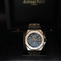 Audemars Piguet Royal Oak Offshore Chronograph Acier 42mm Bleu Sans chiffres