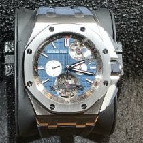 Audemars Piguet Royal Oak Offshore Tourbillon Chronograph Staal Blauw