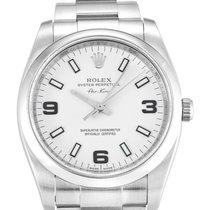 Rolex Air King Acier 34mm Blanc Arabes