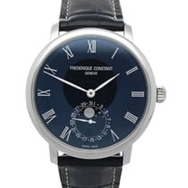 Frederique Constant Manufacture Slimline Moonphase Steel 42mm Blue