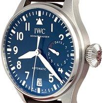IWC Big Pilot pre-owned 46mm Blue Date Calf skin
