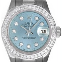 Rolex Automatic Blue 26mm pre-owned Lady-Datejust
