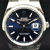 Rolex Datejust Aço 36mm Azul Sem números