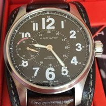 Hamilton Steel Manual winding Black Arabic numerals 44mm pre-owned Khaki Field Officer