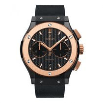 Hublot Red gold Automatic Black 45mm new Classic Fusion Chronograph