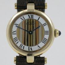 Cartier Tank Vermeil Silver 24mm White Roman numerals