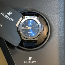 Hublot Classic Fusion Blue Керамика 42mm Синий Без цифр
