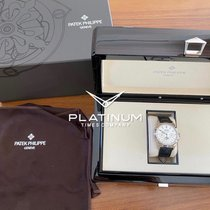 Patek Philippe Perpetual Calendar Chronograph White gold 41mm Silver No numerals