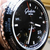 Glashütte Original Steel Automatic Black 42mm pre-owned Sport Evolution Perpetual Calendar
