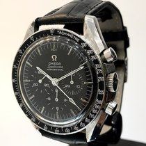 Omega Speedmaster Professional Moonwatch Stal 42mm Czarny Bez cyfr