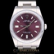 Rolex Oyster Perpetual 36 Acciaio 36mm Violetto Arabo