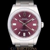 Rolex Oyster Perpetual 36 Acero 36mm Violeta Arábigos España, Barcelona