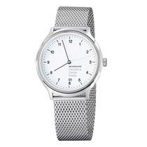 Mondaine Helvetica Steel 40mm White Arabic numerals
