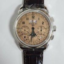 Patek Philippe Platinum Manual winding Pink Arabic numerals 41mm new Perpetual Calendar Chronograph