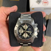 Breitling Steel Automatic Black pre-owned Superocean Chronograph Steelfish