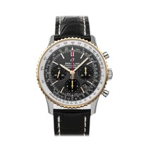 Breitling Navitimer 1 B01 Chronograph 43 pre-owned 43mm Grey Chronograph Date Crocodile skin