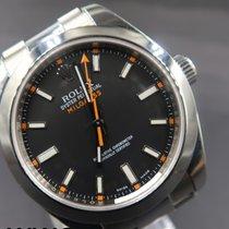 Rolex Milgauss Steel 40mm Black No numerals Malaysia