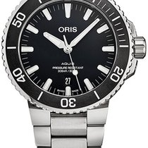 Oris Steel Automatic Black new Aquis Date
