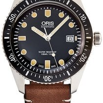 Oris Steel Automatic Black new Divers Sixty Five