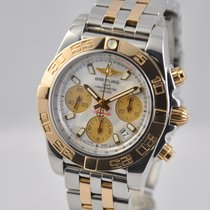 Breitling Chronomat 41 Gold/Steel 41mm Silver No numerals