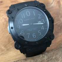 Hamilton Khaki Navy BeLOWZERO Steel 46mm Black Arabic numerals
