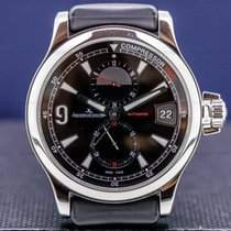 Jaeger-LeCoultre Steel Automatic Black Arabic numerals 41.5mm pre-owned Master Compressor GMT