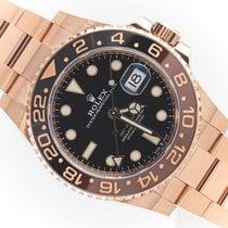 Rolex Oro rosa Automático Negro Sin cifras 40mm nuevo GMT-Master II