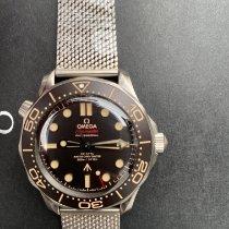 Omega Seamaster Diver 300 M Titán 42mm Barna Számjegyek nélkül
