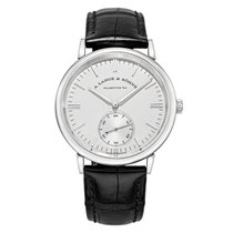 A. Lange & Söhne Saxonia White gold 38.5mm Silver United States of America, Connecticut, Greenwich