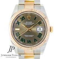 Rolex Datejust II Золото/Cталь 40mm Cерый Без цифр
