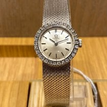 Omega White gold Manual winding Grey No numerals 22mm pre-owned Genève